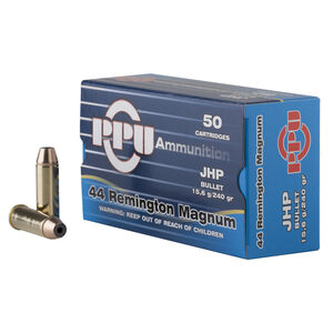 Prvi Partizan PPU .44 Remington Magnum Ammunition 50 Rounds 240 Grain Jacketed Hollow Point