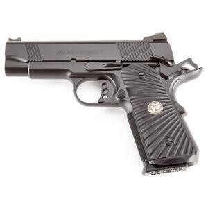 "Wilson Combat CQB Elite Compact 1911 Semi Automatic Handgun 9mm Luger 4"" Barrel 8 Rounds Starburst G10 Grips Armor Tuff Black Finish"