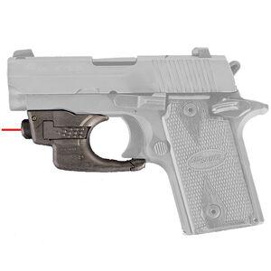 AimShot Trigger Guard Mounted Red Laser SIG Sauer P238 CR1/3N Battery Nylon Reinforced Carbon Fiber Housing Matte Black Finish