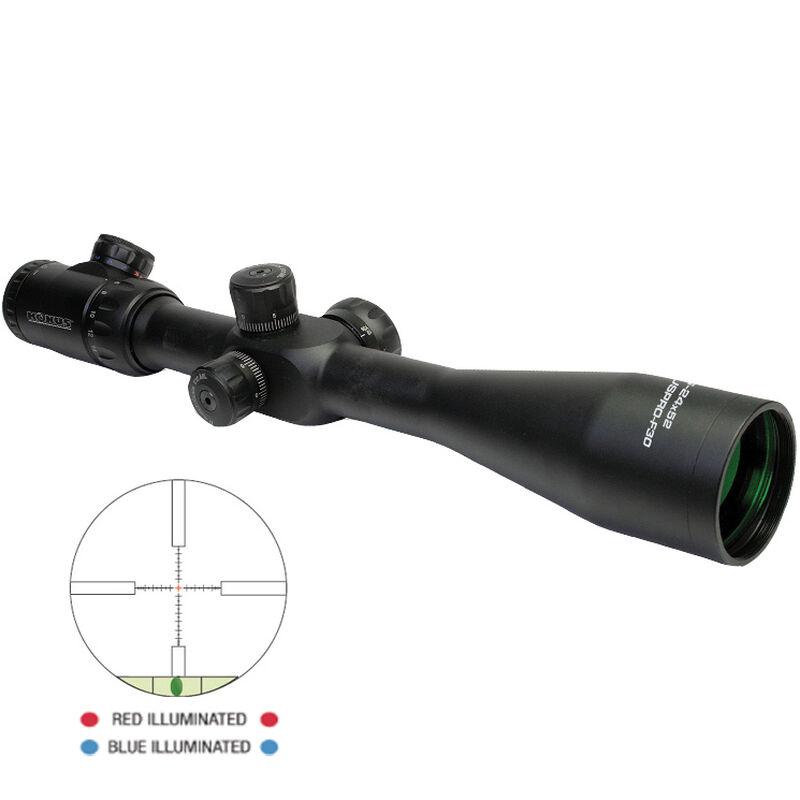 Konus Pro F-30 8-32x56 Riflescope Illuminated Mil-Dot Engraved Reticle 30mm Tube 1/10 MIL Adjustment Matte Black Finish 7298