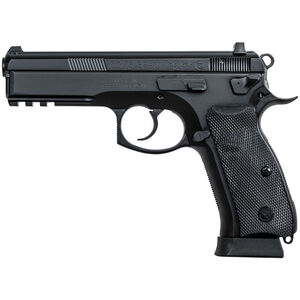 "CZ-USA CZ 75 SP-01 Tactical 9mm Luger Semi Auto Pistol 4.6"" Barrel 18 Rounds Night Sights Picatinny Accessory Rail Steel Frame Matte Black Finish"