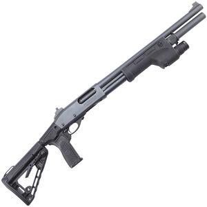 "Wilson Combat CQB Shotgun 12 Gauge Pump Action Shotgun 6 Rounds 18"" Barrel Roger Collapsible Stock with Pistol Grip SureFire Tactical Forend Matte Black Finish"