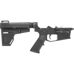 New Frontier C-45 AR-15 Pistol Complete Lower Receiver Assembly 9mm Luger Multi-Caliber Marked Uses GLOCK Style Magazines Billet Aluminum Mil-Spec LPK Shockwave Blade Pistol Brace Black