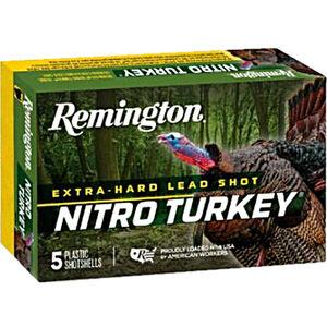 "Remington Nitro Turkey 12 Gauge Ammunition 5 Rounds 3"" Shell #4 Lead Shot 1-7/8oz 1210fps"