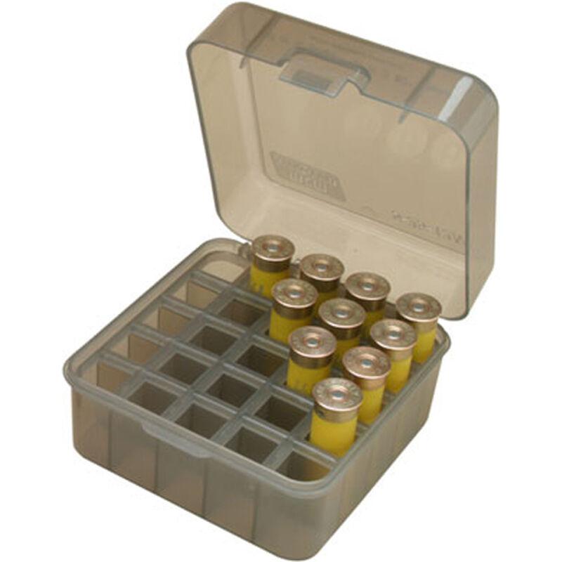 """MTM Case-Guard Dual Gauge Shotshell Case 12/16/20 Gauge 3.00"""" Shot Shells Holds 25 Rounds Clear Smoke"""