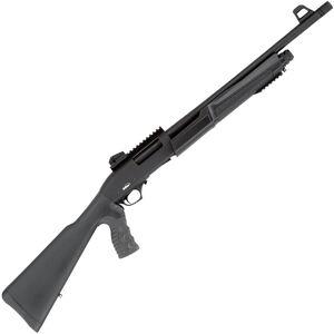"TriStar Cobra III Force 12 Gauge Pump Action Shotgun 18.5"" Barrel 3"" Chamber 5 Rounds Ghost Ring Sights Pistol Grip Stock Black"