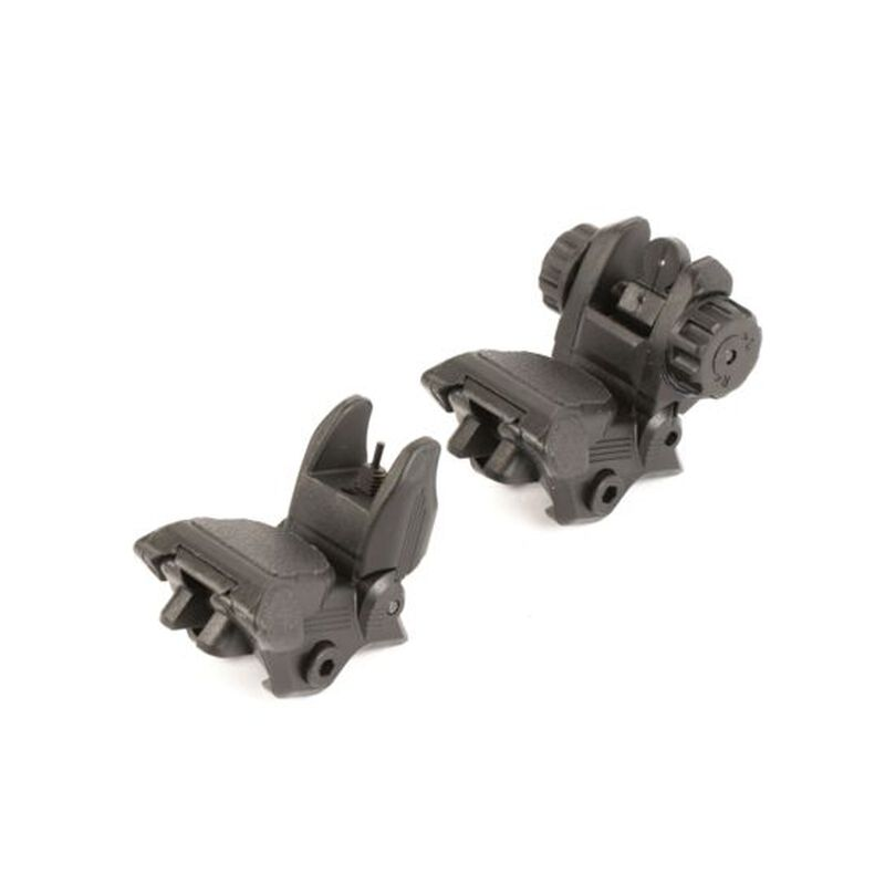 JE Machine Flip-up Polymer Front and Rear Sight