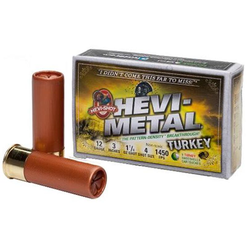 "Hevi-Shot Hevi-Metal Turkey 20 Ga 3"" #4 Leadless 1oz 5 rds"