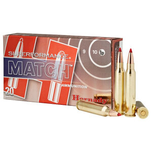 Hornady Superformance Match 5.56 NATO Ammunition 20 Rounds ELD 73 Grains 81268
