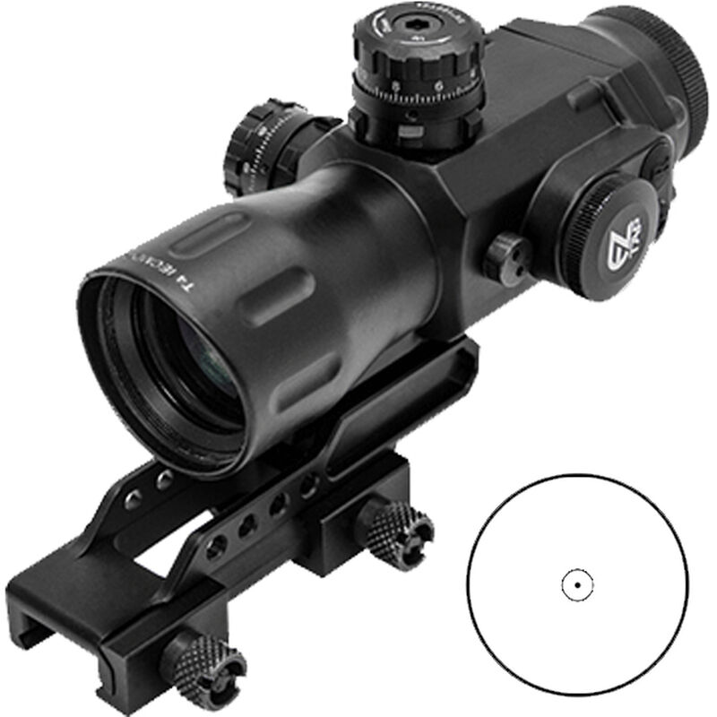 UTG 4X32 T4 Compact Prismatic Scope, 36-Color, Circle Dot