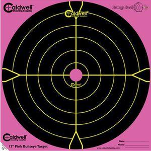 "Caldwell Shooting Supplies Bullseye Paper Target 12""x12 Pink 5 Pack 317536"