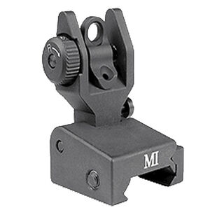 Midwest Industries Low Profile Flip Up Rear Sight Picatinny Matte Black MCTAR-SPLP