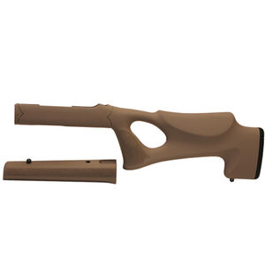 Hogue OverMolded Thumbhole Stock Ruger 10/22 Takedown Standard Barrel Rubber FDE