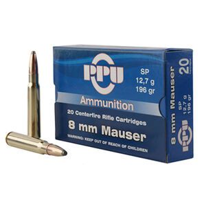 Prvi Partizan 8mm Mauser Ammunition 20 Rounds SP 196 Grains