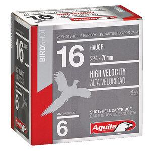 "Aguila High Velocity 16 ga 2-3/4"" #6 Shot 1oz 250 Round Case"