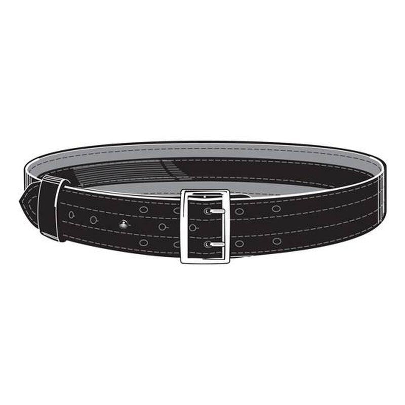 """Safariland Model 87V Suede Lined 2.25"""" Duty Belt With Velcro System 36"""" Waist Nickel Buckle Basket Weave Black 87V-36-8"""