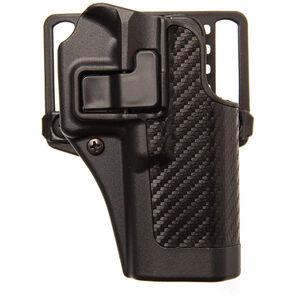 BLACKHAWK! CQC SERPA GLOCK 26/27/33 Belt Holster Right Hand Black Carbon Fiber Finish 410001BK-R