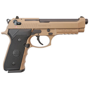 "EAA GiRSAN Regard MC 9mm Luger Semi Auto Pistol 4.9"" Barrel 18 Rounds Beretta 92 Style Pistol Ambidextrous Safety Flat Dark Earth Finish"