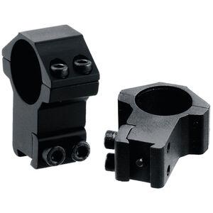 "Leapers UTG Airgun/.22 Rimfire Rings 3/8"" Dovetail 1"" Diameter High Profile Aluminum Black"