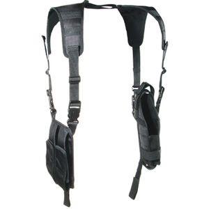 Shoulder Holster Vertical Black Leapers UTG Medium to Large Handguns With Lights or Lasers