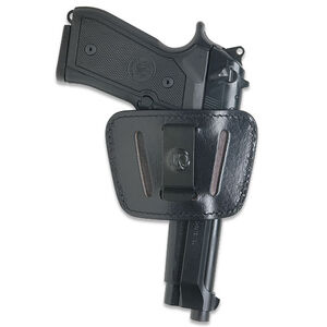 JBP Belt Slider Holster Ambidextrous Small to Medium Pistols Leather Black 1036BLK