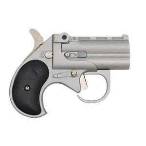 """Bearman Industries Big Bore Derringer .380 ACP 2.75"""" Barrels 2 Rounds Fixed Sights Synthetic Grip Satin Stainless Finish"""