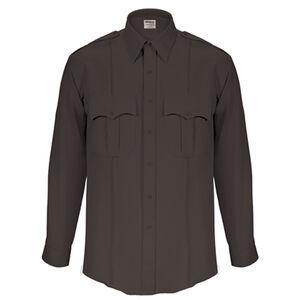 "Elbeco Textrop2 Men's Long Sleeve Shirt Neck 18.5 Sleeve 37"" 100% Polyester Tropical Weave Black"