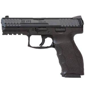 "H&K VP9 Semi Auto Pistol 9mm Luger 4.09"" Barrel 15 Rounds Striker Fired 3-Dot Night Sights Polymer Frame Black Finish 700009LE-A5"