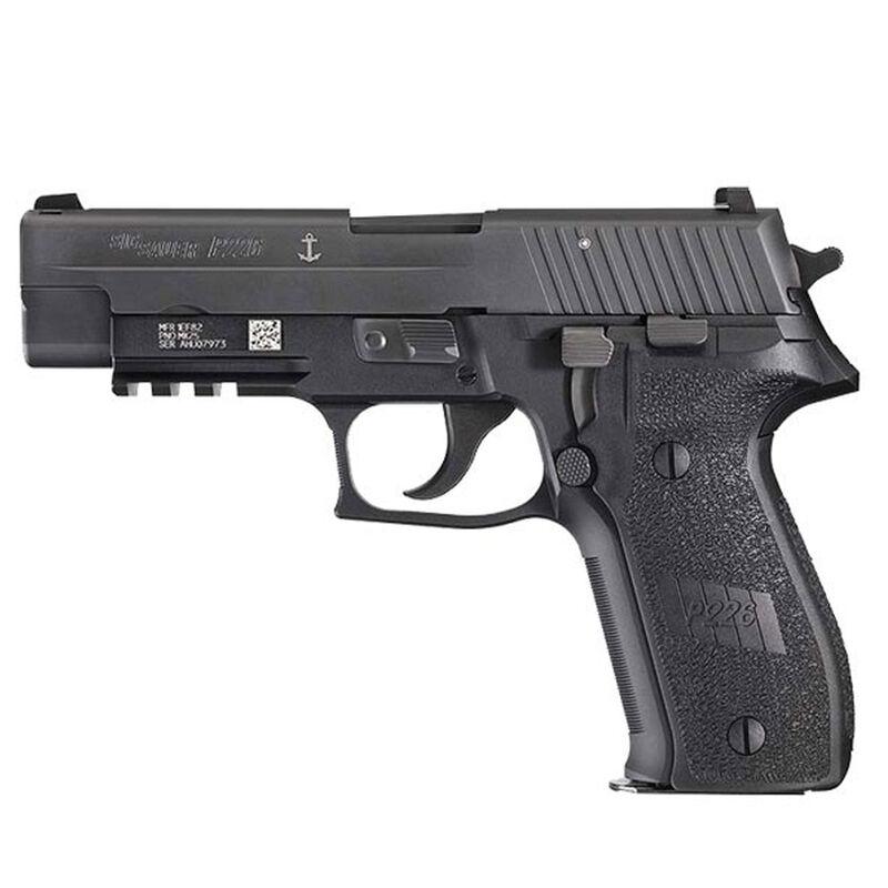 "SIG Sauer P226 MK25 Full Size 9mm Luger Semi Auto Pistol 4.4"" Barrel 10 Rounds SIGLite Sights M1913 Rail Alloy Frame Anodized Finish Matte Black"