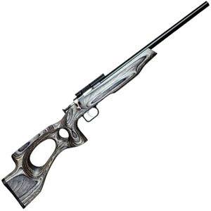 "Keystone Arms Crickett EX Single Shot Bolt Action Rimfire Rifle .22 LR 16"" Bull Barrel 1 Round Black Laminate Thumbhole Stock Blued Finish"
