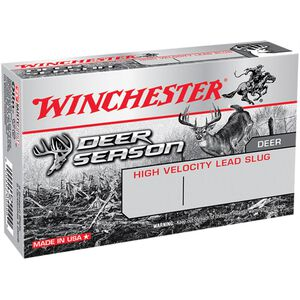 "Winchester Deer Season Slug 12 Gauge Ammunition 5 Rounds 2-3/4"" Slug 1-1/4oz 1600fps"