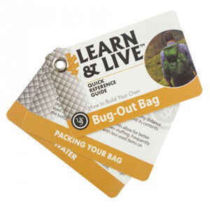 Ultimate Survival Technologies Learn & Live Bug Out Card Set 20-02748