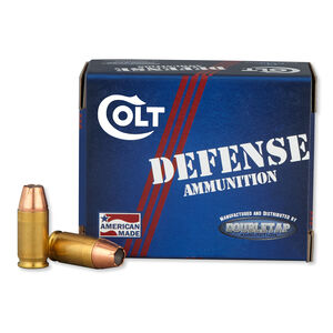 Colt Defense .380 ACP Ammunition 20 Rounds 90 Grain Jacketed Hollow Point 975fps