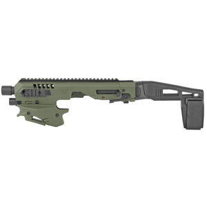 CAA Micro Roni Conversion Kit Fits SW M&P 2.0 Pistol Brace Chassis Polymer OD Green CAAMCKSWMPG