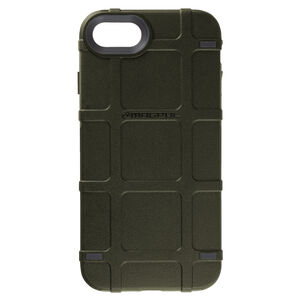 Magpul Bump Case Apple iPhone 7/8 Rigid Thermoplastic Outer Shell with Shock Absorbing Inner Layer/PMAG Style Ribs Olive Drab Green
