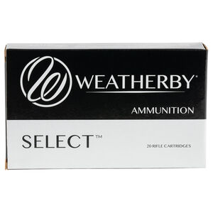 Weatherby Select.300 Weatherby Magnum Ammunition 20 Round Box 180 Grain Hornady Interlock Projectile 3240fps
