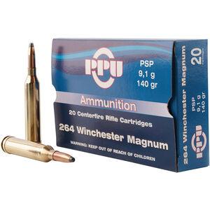 Prvi Partizan .264 Win Mag Ammunition 20 Rounds 140 Grain PSP Bullet 3018fps