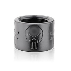 Backup Tactical 1/2x28 Thread Protector Aluminum Skull X Black