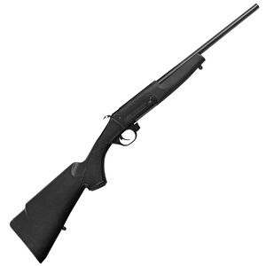 "Traditions Crackshot .22 Caliber Break Action Rifle 16.5"" Steel Barrel Single Shot Mounted Scope Base Blued Metal Black Synthetic Stock"
