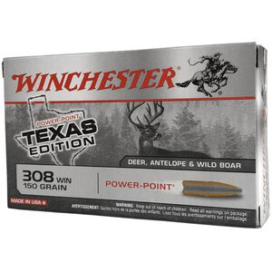 Winchester Super X .308 Winchester Ammunition 20 Rounds Texas Edition Power Point 150 Grains