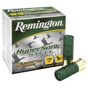 "Remington HyperSonic 12 Ga 3.5"" #4 Steel 1.375oz 25 rds"