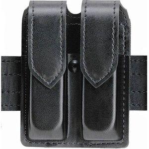 Safariland Model 77 Double Handgun Magazine Pouch GLOCK 20/21 Magazines Plain Finish Hidden Snap Closure Black 77-383-2HS