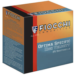 "Fiocchi Optima Specific High Velocity .410 Bore Ammunition 250 Rounds 3"" #7.5 Shot 11/16oz Lead 1140fps"