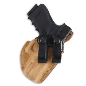 """Galco Royal Guard Inside-the-Pants Holster 1911s 5"""" Barrels Right Hand Leather Natural  with Black Belt Loops RG212B"""