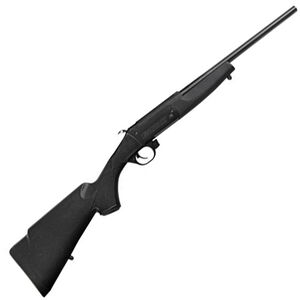 "Traditions Crackshot .22 Caliber Break Action Rifle 16.5"" Steel Barrel Single Shot Blued Metal Black Synthetic Stock"
