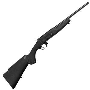 "Traditions Crackshot .22 Caliber Break Action Rifle 16.5"" Steel Barrel Single Shot Blued Metal Black Synthetic Stock"