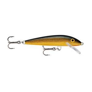 "Rapala Original Floating Lure 2.75"" Length 3'-5' Depth 2 Number 7 Treble Hooks Gold"