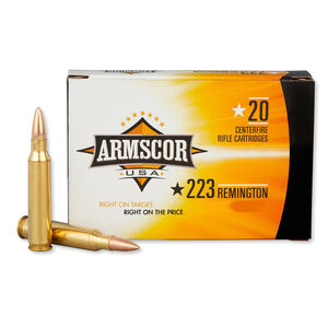 Armscor USA .223 Remington Ammunition 20 Rounds 55 Grain Polymer Tipped Projectile