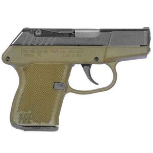 "Kel-Tec P-3AT Semi Automatic Handgun .380 ACP 2-3/4"" Barrel 6 Rounds Green Polymer Grip and Frame Assembly Parkerized Steel Slide"