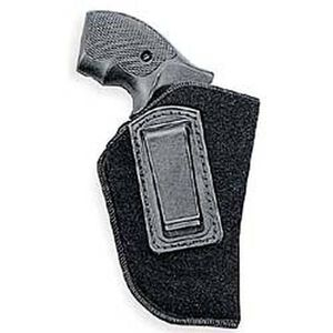 """Uncle Mike's Inside-the-Pants Holster Small- & Medium-Frame DA Revolvers 2"""" to 3"""" Barrels Size 0 Right Hand Open Nylon Black"""